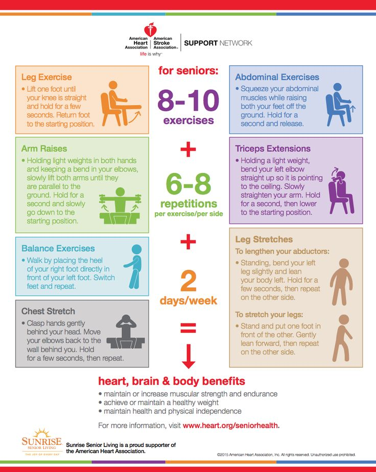 Exercise for Seniors Infographic from the