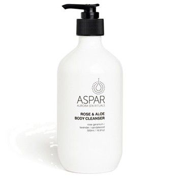 We're loving the ASPAR Rose & Aloe Body Cleanser, which is a soothing, sulphate-free body wash infused with calming aloe leaf extract and relaxing rose geranium. It gently cleanses and conditions skin, and has a lovely fresh scent. Totally divine!