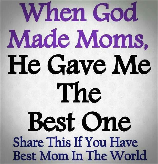 I love my Mom and I don't EVER want to disappoint her again!!!!