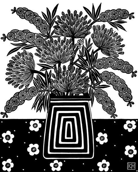 Kate  Hudson - Bottlebrush And Agapanthas