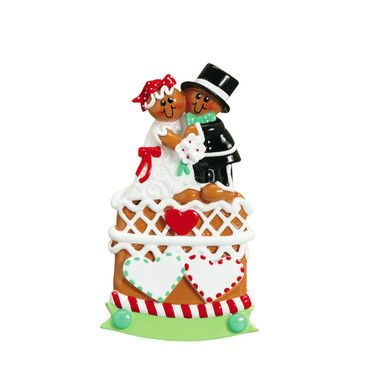 Rudolph & Me Gingerbread Wedding Cake Personalized Ornament #785