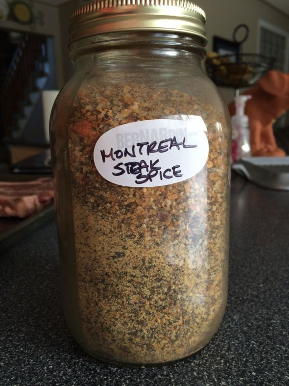 DIY Montreal Steak Spice recipe, I use this stuff on roast, in chili, on baked chicken...lots of options.