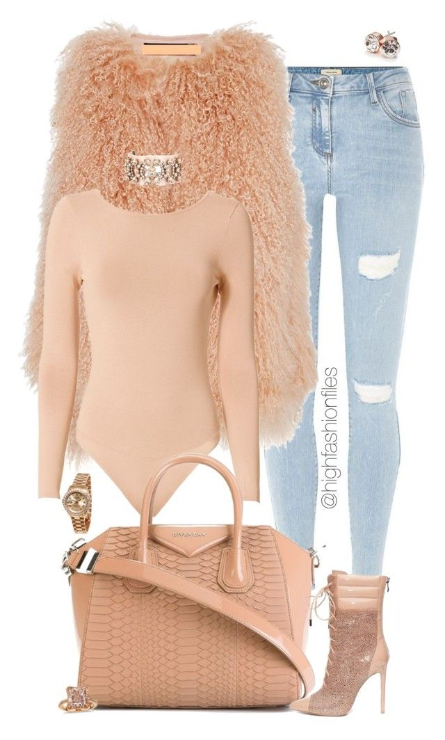 """""""Untitled #2705"""" by highfashionfiles on Polyvore featuring River Island, Martin Grant, Exclusive for Intermix, Givenchy, Shourouk, Rolex, Blue Nile and GUESS"""