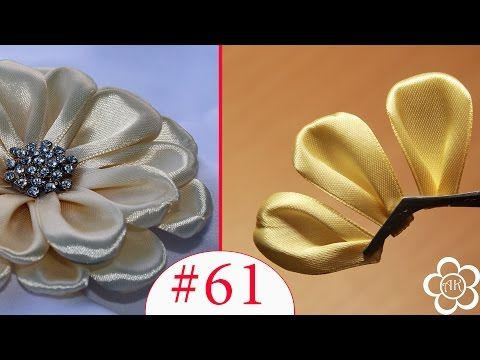 Плоский листик Канзаши / Все Лепестки Канзаши #61 - YouTube