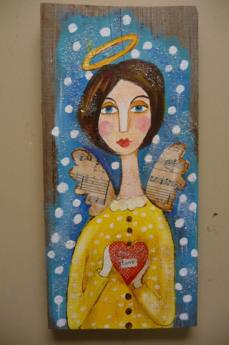 Sweet angel ~ folk art