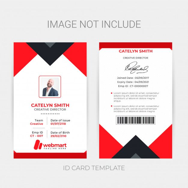 Creative Id Card Template Id Card Template Card Template Card Templates