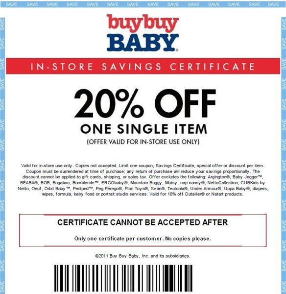 Printable baby coupons