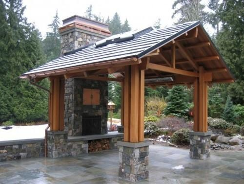 17 best images about outdoor pavilion ideas on pinterest for Outdoor kitchen pavilion designs