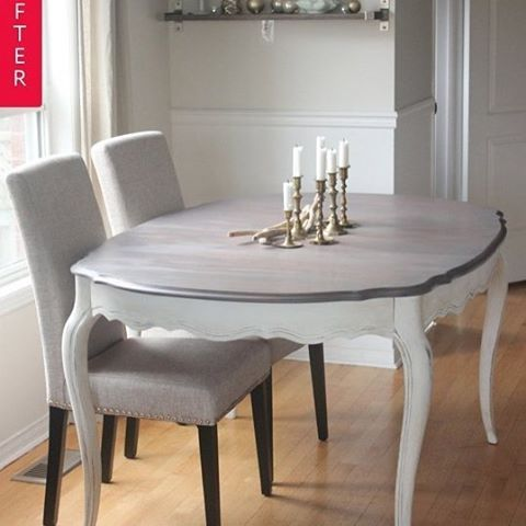 Before & After French Provincial Dining Table