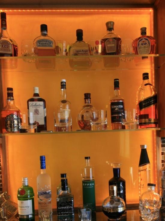 Inspirational Back Bar Bottle Display
