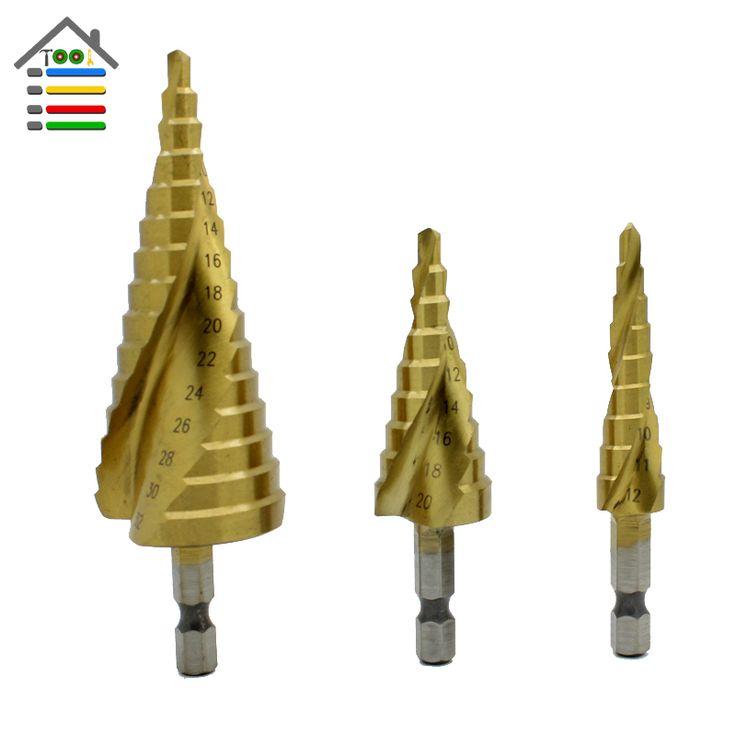 $14.59 (Buy here: https://alitems.com/g/1e8d114494ebda23ff8b16525dc3e8/?i=5&ulp=https%3A%2F%2Fwww.aliexpress.com%2Fitem%2FTop-Quatily-3pcs-HSS-Metal-Spiral-Grooved-Core-Cone-Step-Drill-Bits-4mm-to-12mm-20mm%2F32742036194.html ) Top Quatily 3pcs HSS Metal Spiral Grooved Core  Cone Step Drill Bits 4mm to 12mm 20mm 32mm Wood Hole Drilling Set for just $14.59