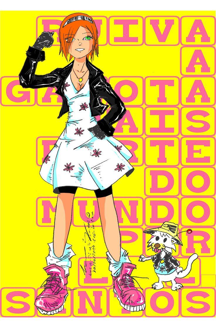 #agarotamaisfortedomundo #superherogirl #ruiva #headred #dress #jaqueta #leather #manga #desenho #girl #girlwoman #ilustração #ilustration