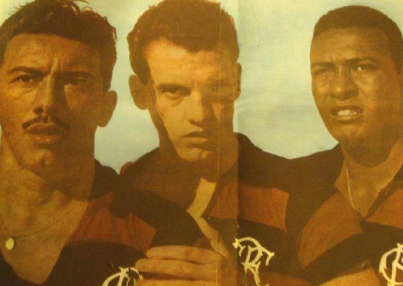 Biguá, Bria e Jaime. Crédito: revista Mengo 70 - N. 3. Modesto Bria nasceu em Encarnación, Paraguai, no dia 3 de Agosto de 1922. Depois de passagens em equipes amadoras da capital, chegou ao Nacional no final dos anos trinta. Volante de técnica refinada, Bria foi campeão paraguaio de 1942 pelo Nacional e chegou ao selecionado guarani onde começou a ser notado internacionalmente. Depois da aventura de Ary Barroso, Bria desembarcou na Gávea no início do mês de setembro de 1943. Seu primeiro…