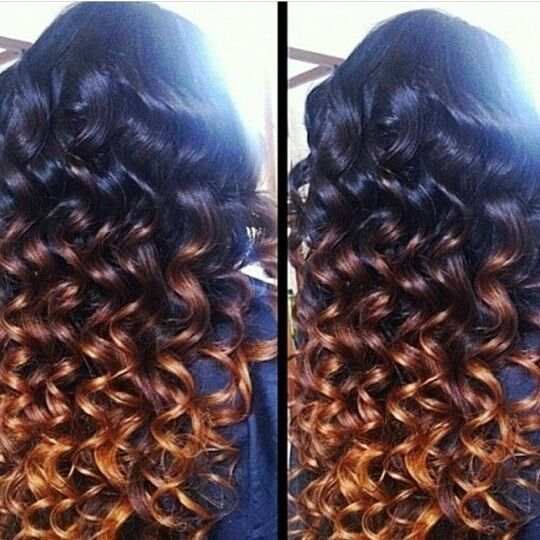 Ombre wand curl | Hair | Pinterest | Wand curls, Curls and