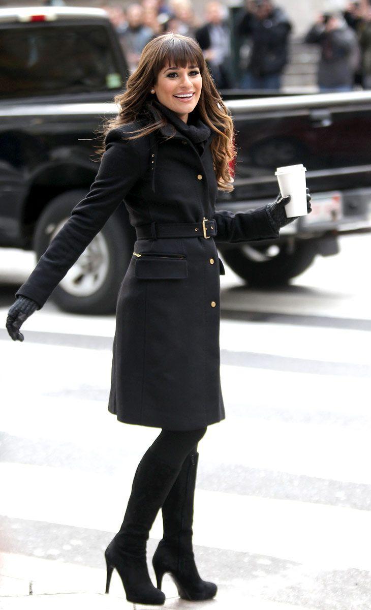 Estilo para el invierno Lea Michele