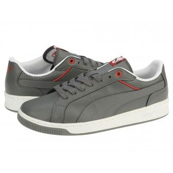 Pantofi sport barbati Puma Court Attaque FS4 steel gray-red-white
