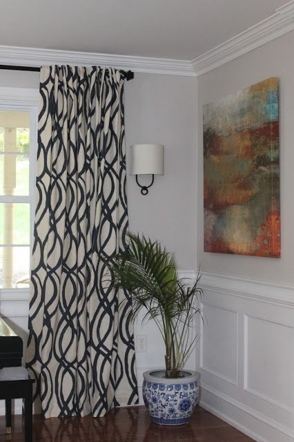 West Elm Scribble Curtains Midnight Blue #spottedwestelm