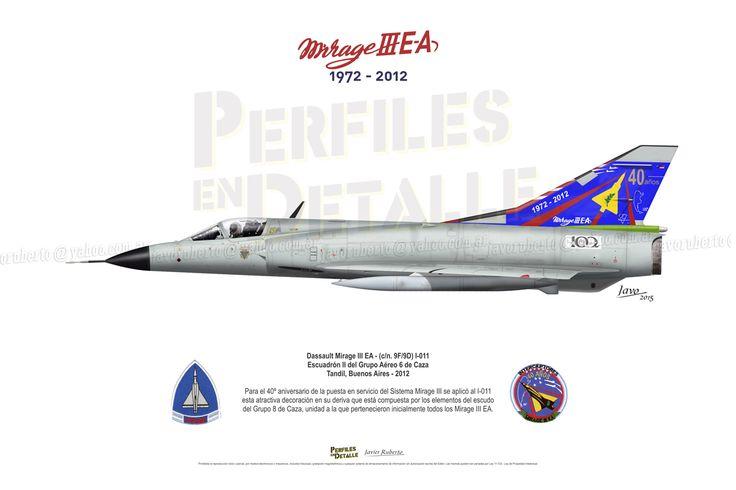 Dassault Mirage III EA - (c/n. 9F/9D) I-011 Escuadrón II del Grupo Aéreo 6 de Caza - Tandil, Buenos Aires -2012