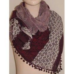 Tom Tailor šátek vínový univerzální; scarf