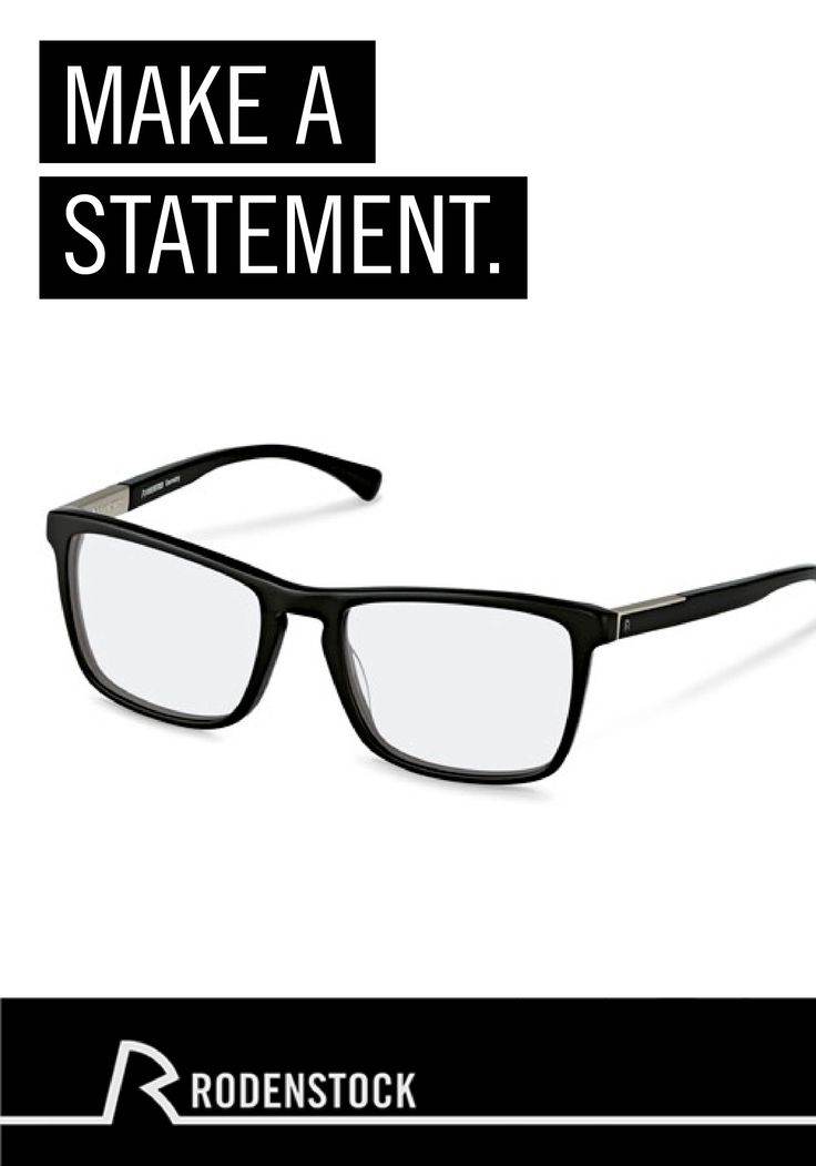 Made for the modern man, these minimalist eyeglasses from Rodenstock amplify your outfit's style. Pair these glasses with a casual pair of jeans and a button-up shirt to complete the look.