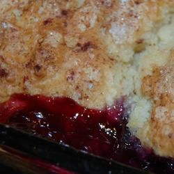 Very Best Blueberry Cobbler - Liked it. The dough bakes up really well. I added a little cornstarch to the berries though, there was a lot of liquid from them being frozen.