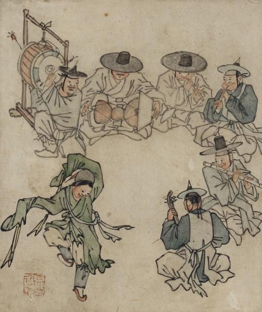 [Joseon Dynasty (18th century)] Album of Genre Paintings by Danwon (Kim Hong-do)