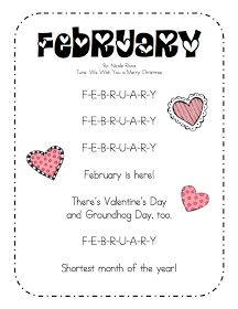 great song to teach my little darlings how to spell february
