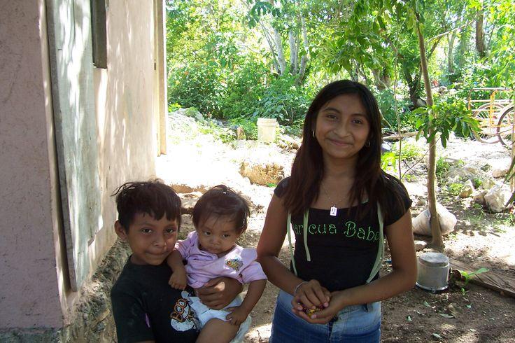 The children of mayan village