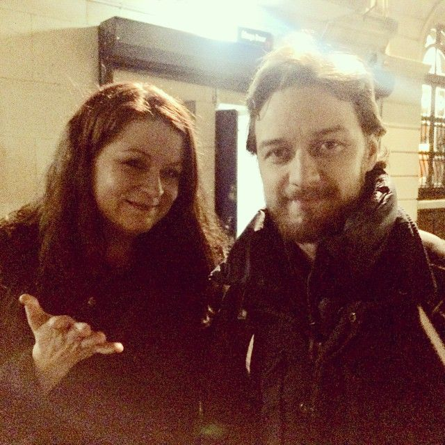 James McAvoy in London Jan 27th 2015