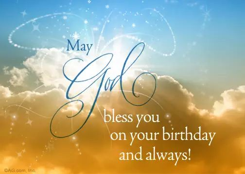 May God bless you on your birthday and always!                                                                                                                                                                                 More