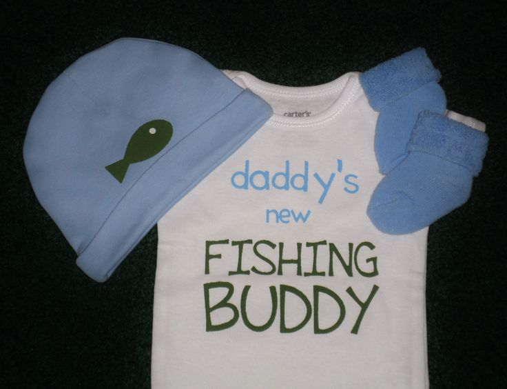 Daddy's New Fishing Buddy Gift Set For Baby Boys - Fishing Buddy Newborn Baby Boy Gift Set  - Daddy's Boy - Cute Hat And Socks by SugarBearHair on Etsy