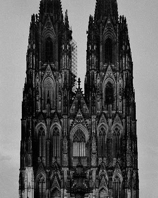 beautiful gothic architecture illustration