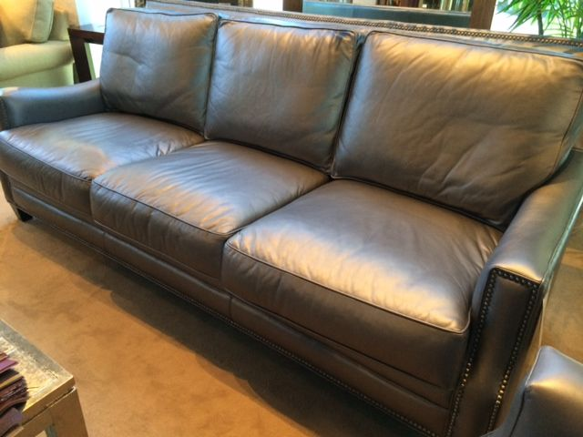 Custom Leather Sofa By Eleanor Rigby