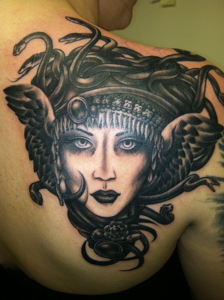 Medusa Shoulder Tattoo  Pretty Gruesome Gallery