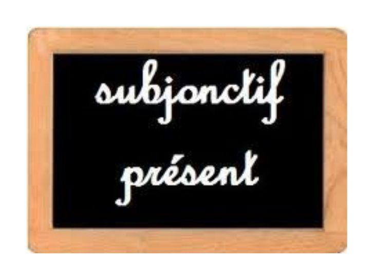 Le présent du subjonctif avec des activités