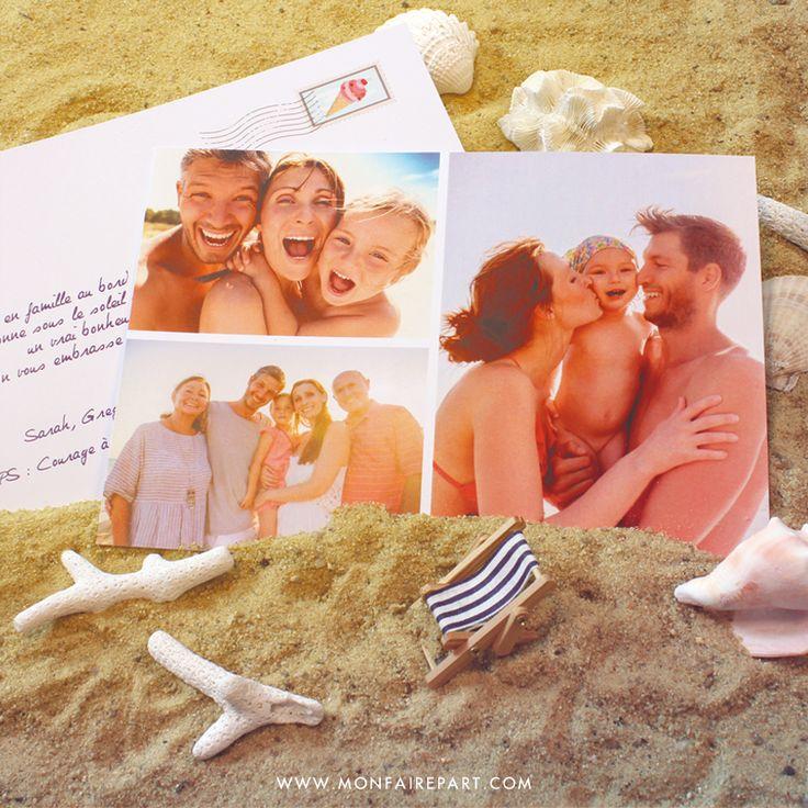 Carte postale personnalisée pour partager avec vos proches vos plus beaux souvenirs au bord de la mer, ref N14177