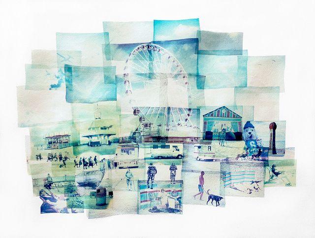With Sand Beneath Our Feet (Polaroid emulsion lift on paper) | Flickr: Intercambio de fotos