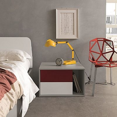 Minimalist and elegant bedside table 'Oedipa'. Beautiful piece, modern, contemporary. My Italian Living.