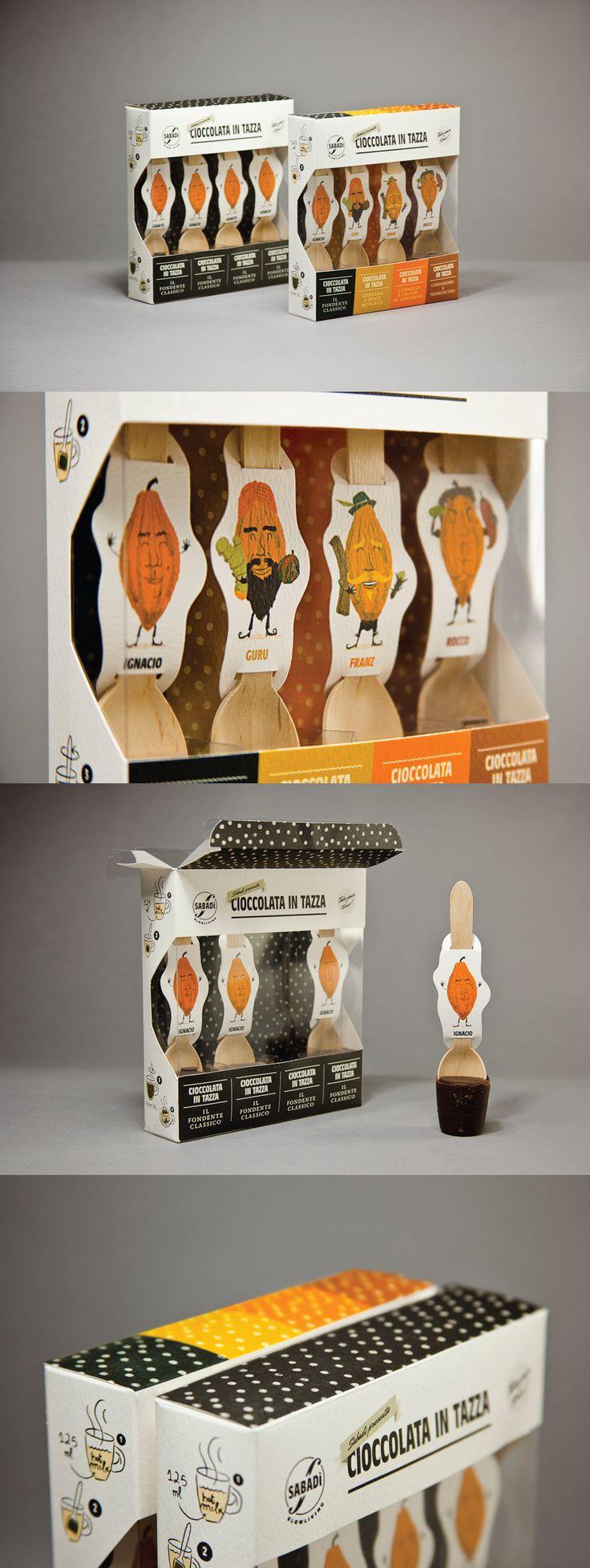 Unique packaging design. Sabadi Hot Chocolate.