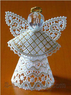 SKU 10565 3D freestanding lace Christmas angel