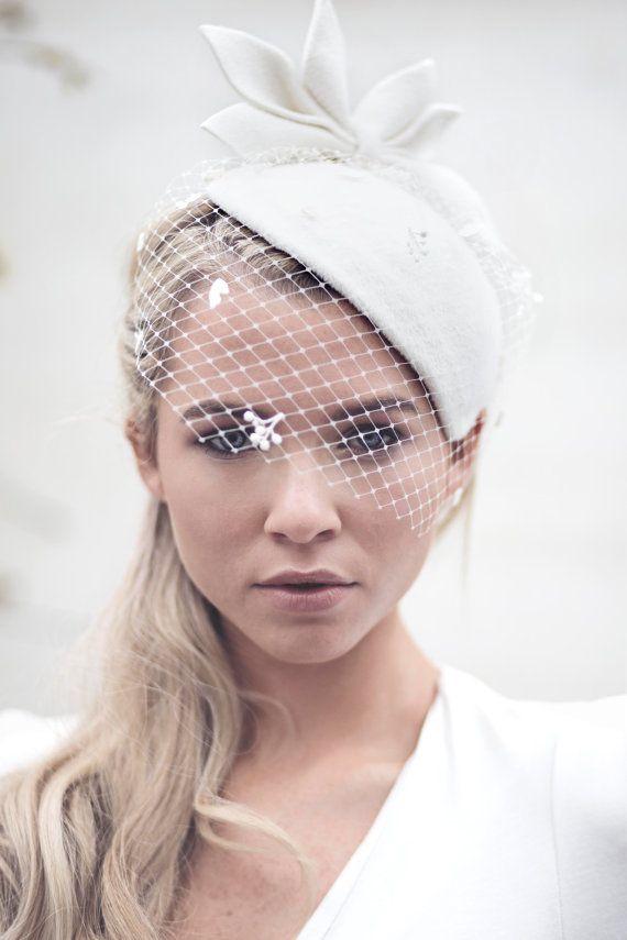 wedding veil bridal hat vintage
