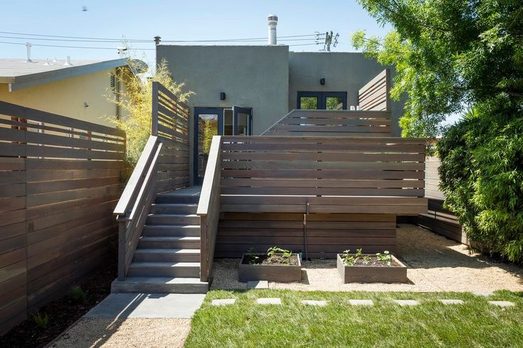 small backyard ideas deck modern with pavers contemporary garden fencing