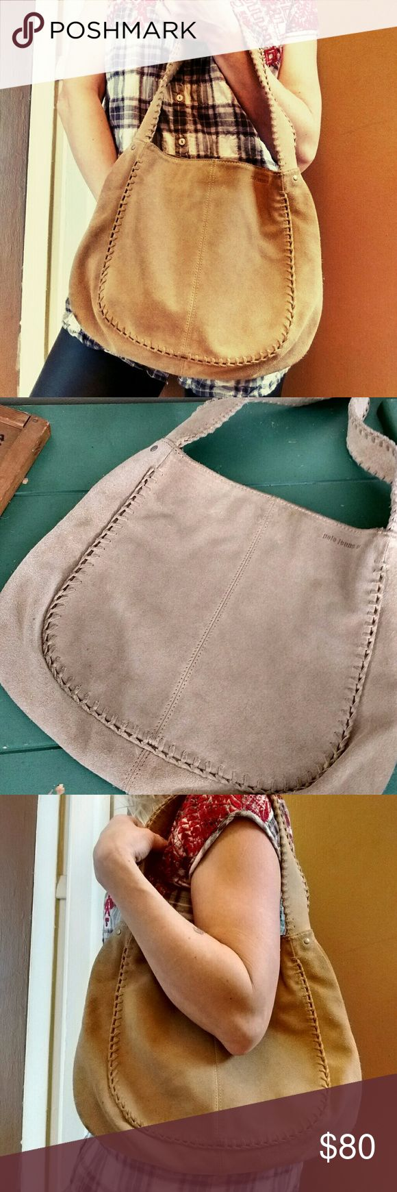 Polo Jeans Co. Ralph Lauren Suede Handbag, Nice!!! Gorgeous Genuine Suede Leather Equestrian Saddlebag Purse / Shoulder Bag by Ralph Lauren Polo Jeans Co. In Excellent Condition!  Perfect Interior!  From a Smoke and Pet Free Closet. Polo by Ralph Lauren Bags Shoulder Bags