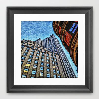 Skyrise Framed Art Print by AngelEowyn - $34.00