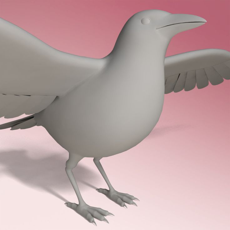 3ds max crow rigged