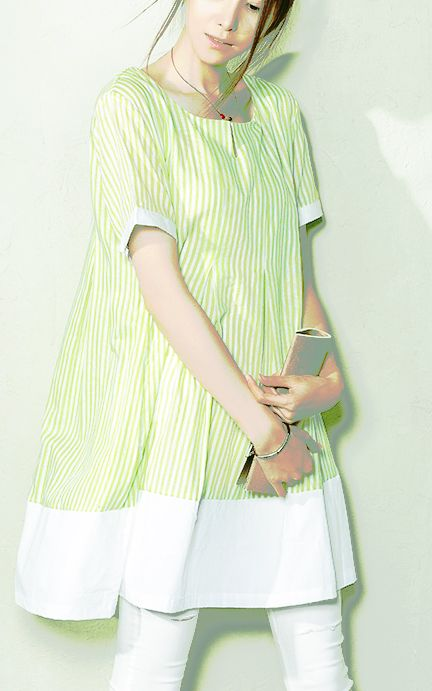 Green striped linen dress oversize new dresses for summers maternity sundresses