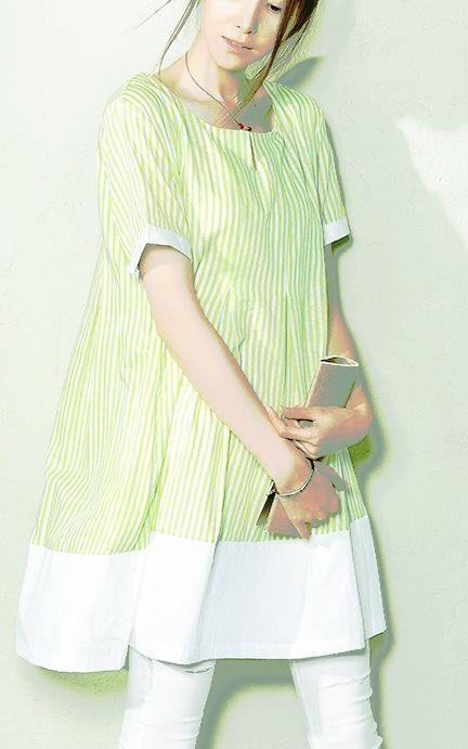 Green striped linen dress oversize new dresses for summers maternity sundresses