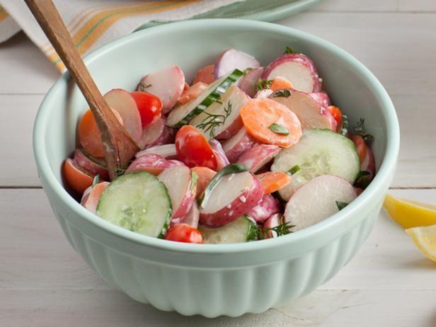 Lightened up Garden Potato Salad #SummerRecipe #GrillingCentral: Summer Side Dishes, Food Network, Healthy Summer, Spring Gardens, Network Kitchens, Gardens Potatoes, Potatoes Salad Recipes, Summer Recipes, Potato Salad Recipes