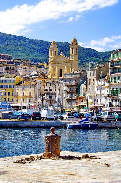 Corse - Bastia 88 le Vieux Port et l'église Saint Jean Baptiste by paspog, via Flickr