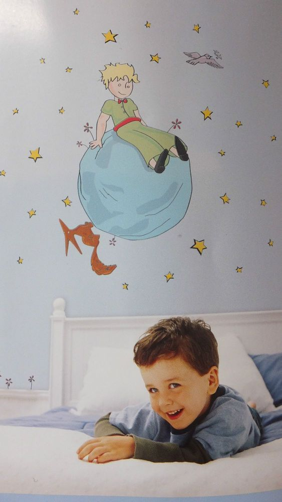 THE LITTLE PRINCE LE PETIT PRINCE WALL DECAL STICKERS REMOVABLE PRINCE WITH FOX